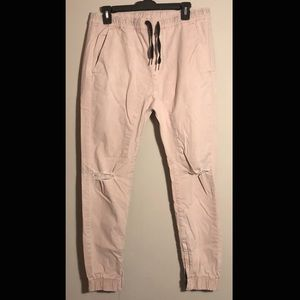 Men's Ripped Knee Joggers